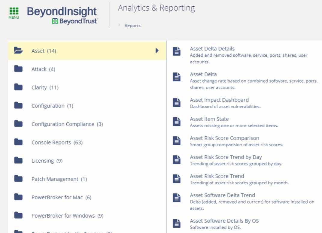 BeyondTrust Analytics & Reporting